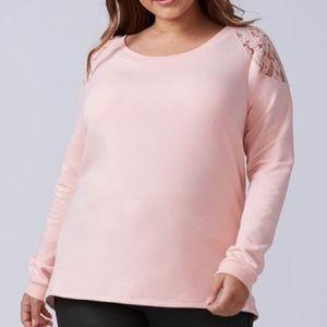 Lane Bryant-Lace-Shoulder Sweatshirt-22/24
